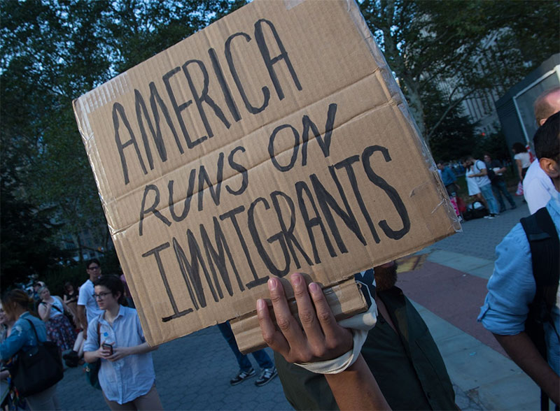 america runs immigrants
