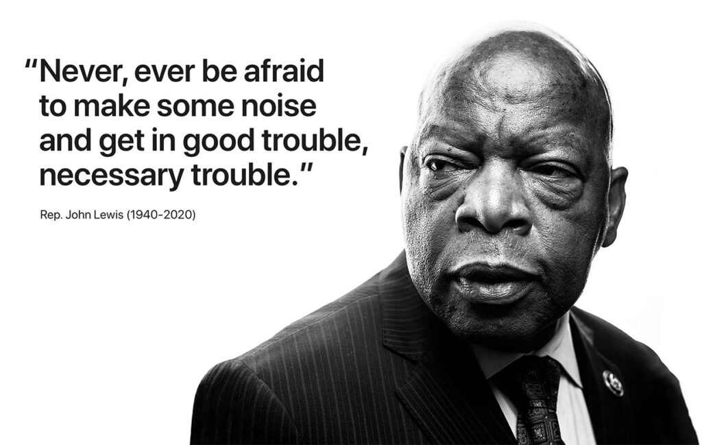 john lewis quote good trouble