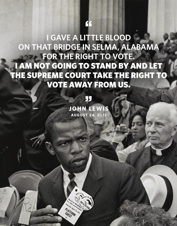 john lewis voting rights act quote