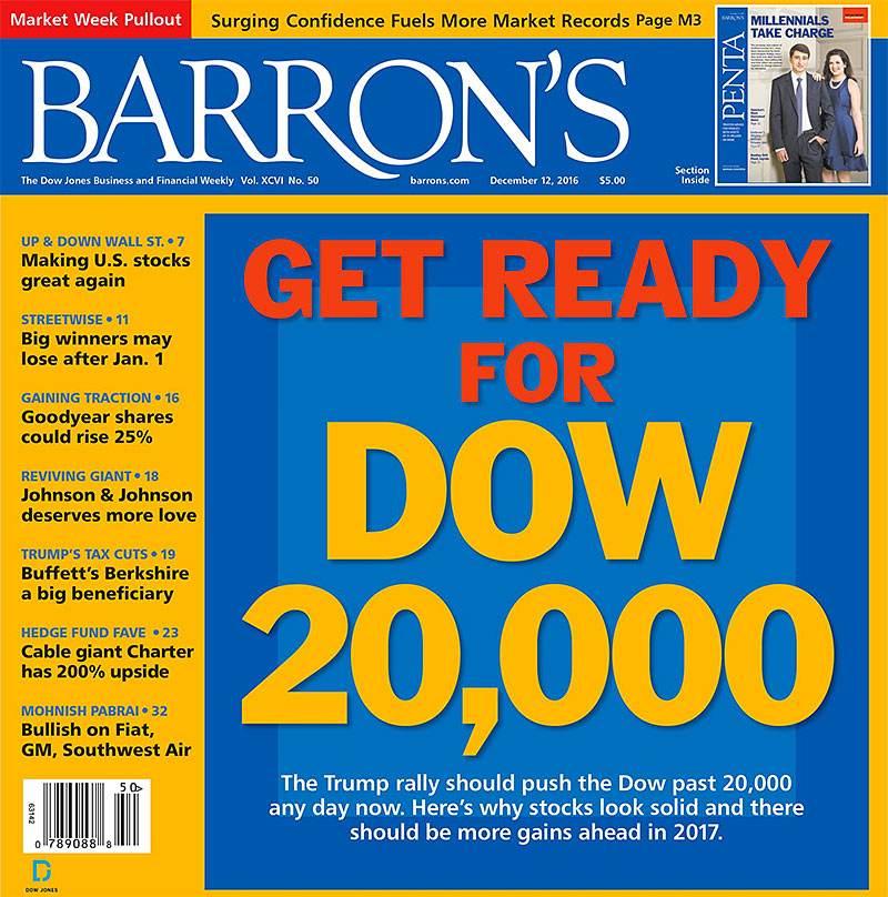 barron's magazine dow 20k cover