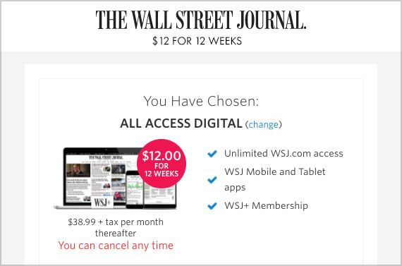 wsj 12 weeks deal