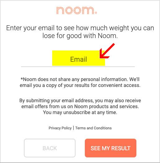 noom free enter email