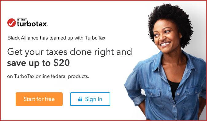 black alliance turbotax promo