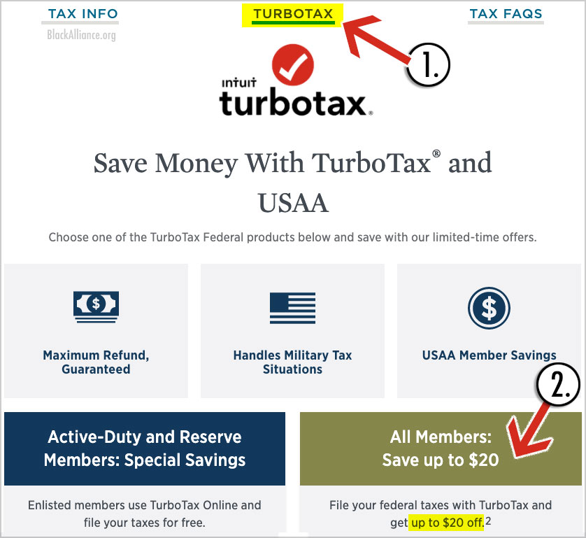 usaa turbotax discount
