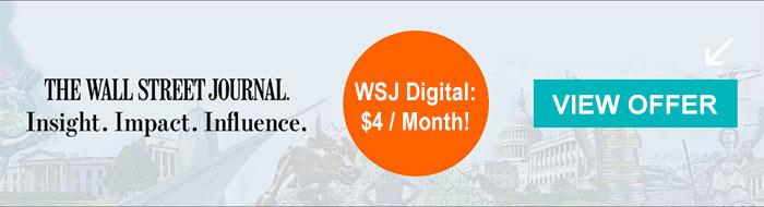 wsj subscription offer 4dollars
