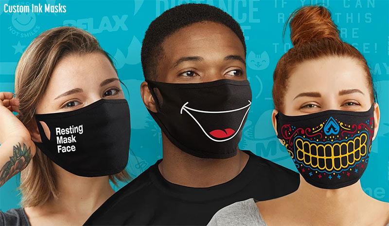 custom ink masks