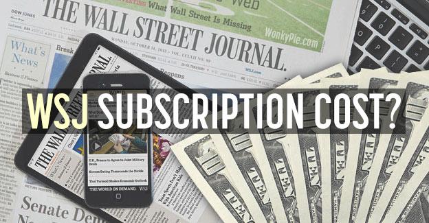 wall street journal cost