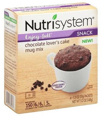 nutrisystem mug cake mix