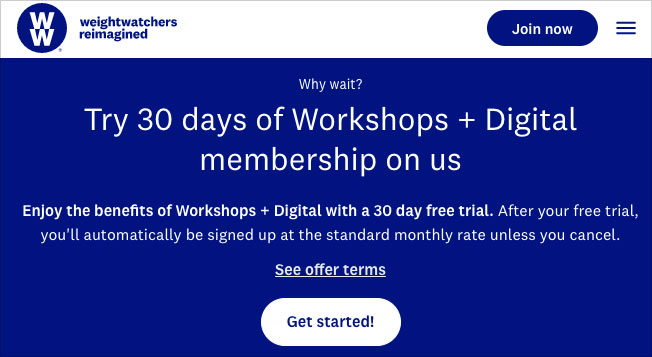 ww free workshop trial