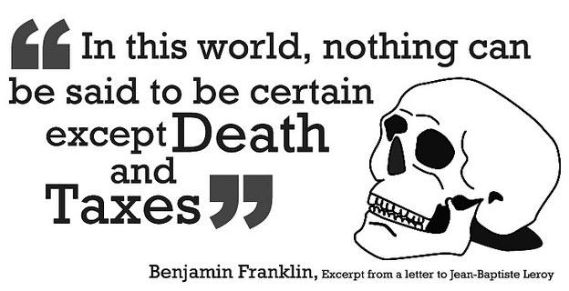 death taxes quote origin