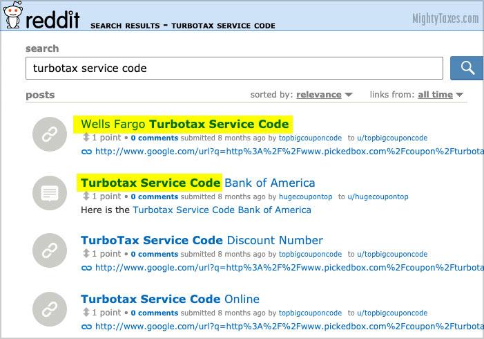 reddit codes turbotax