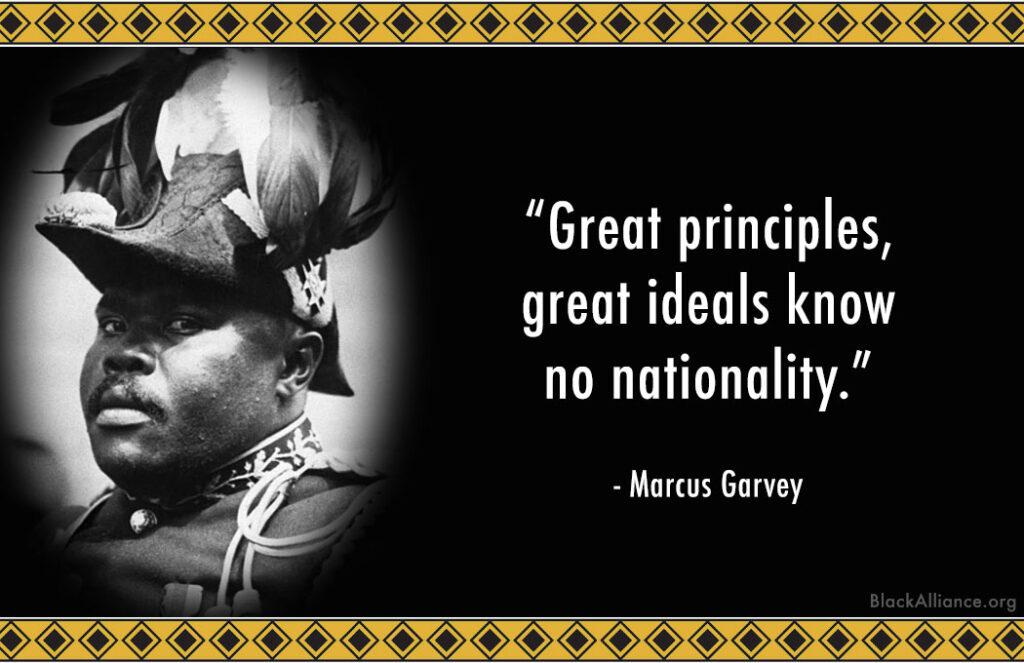 marcus garvey quote nationality