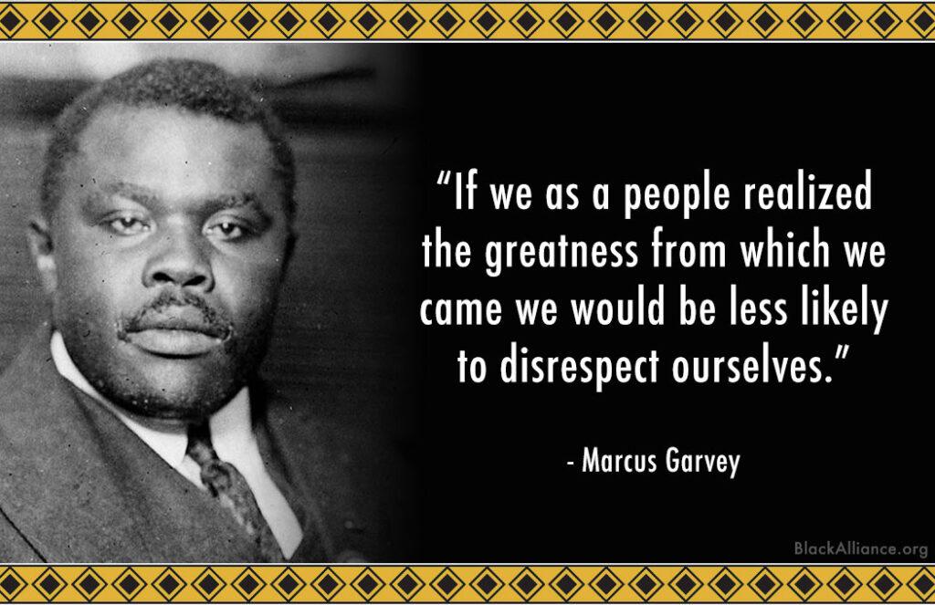 marcus garvey quote race