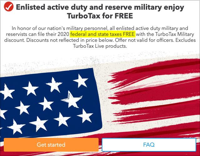 turbotax free file military